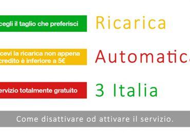 Disabilitare ricarica automatica di 3 Italia Il servizio di ricarica automatica di 3 non ti lascia mai senza credito. È un servizio gratuito che 3 Italia attiva automaticamente quando stipuli un nuovo contratto, ma se non volessi utilizzarlo è  #3italia #tre