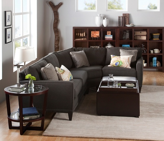 light gray wall white trim dark light woods charcoal couch etc books worth reading. Black Bedroom Furniture Sets. Home Design Ideas