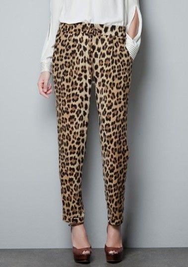 Leopard Elastic Waist Drawstring Pant. I could see you lounging around in these.