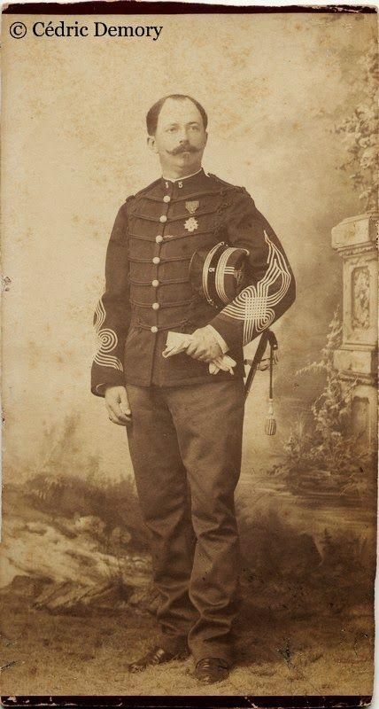 Photographes et Militaires.: Charles Jean Vilar, chef de bataillon du 5eme Chas...