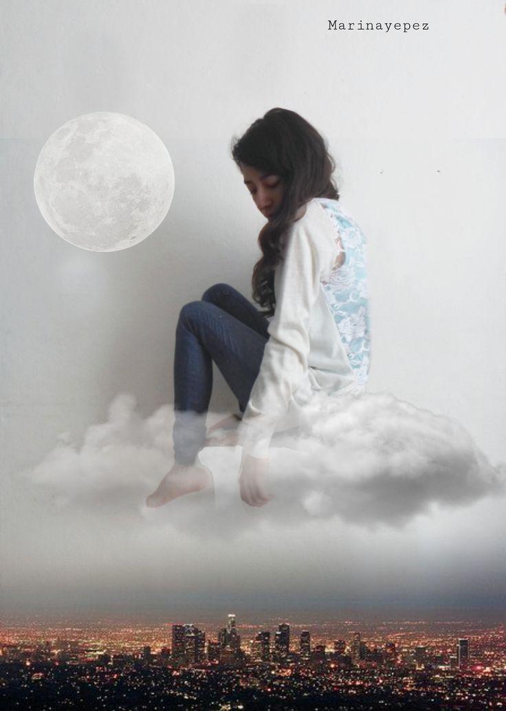 ☁  #photography  #moon  #cloud  #city  #night