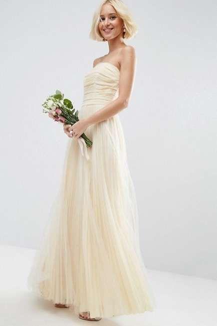 vestido de novia palabra de honor de asos bridal | vestidos | pinterest