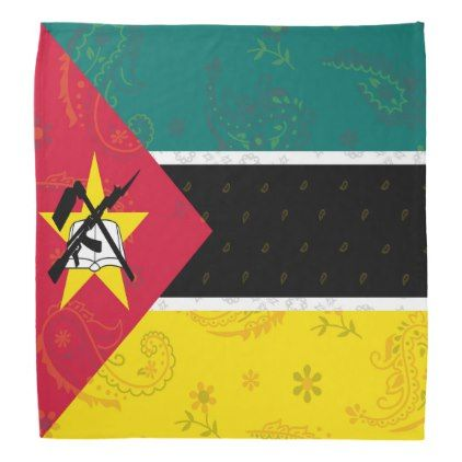 Mozambique Flag Bandana - trendy gifts cool gift ideas customize