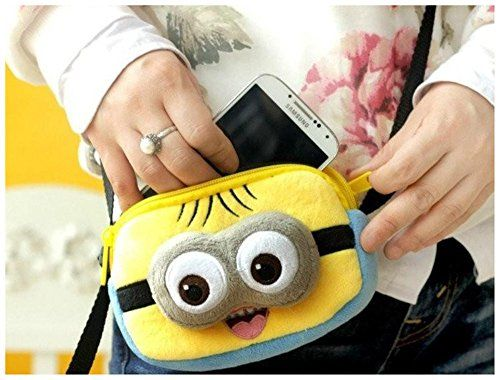 Adorable Despicable Me plush 3D minion eyes mini hand bag @ niftywarehouse.com #NiftyWarehouse #DespicableMe #Movie #Minions #Movies #Minion #Animated #Kids