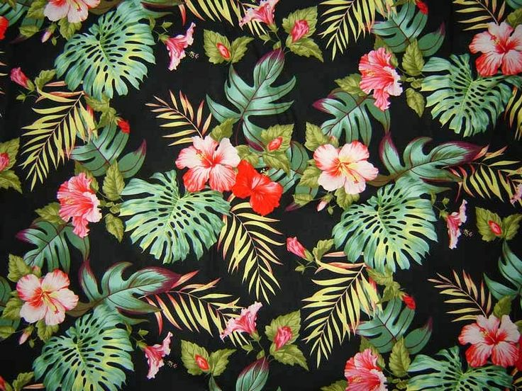 Hawaiian floral pattern