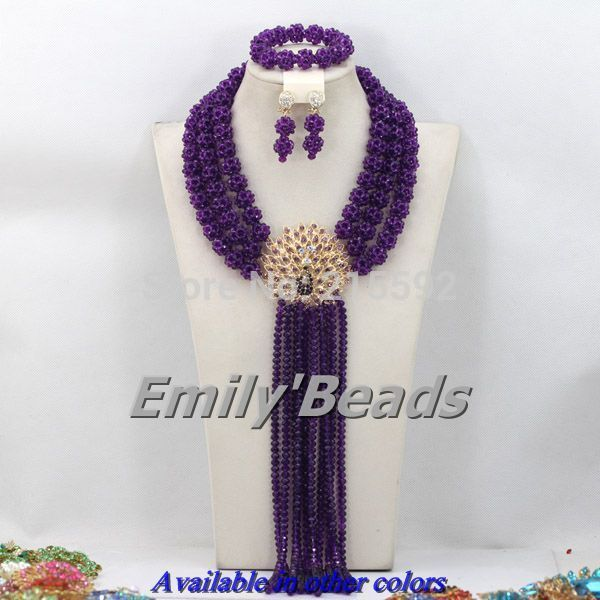 Find More Jewelry Sets Information about Fashionable African Beads Jewelry Sets Purple Costume African Nigerian Wedding Crystal Beads Jewelry Set Free Shipping AES984,High Quality jewelry stands and displays,China jewelry leaf Suppliers, Cheap jewelry quotes from Emily's Jewelry DIY Store on Aliexpress.com
