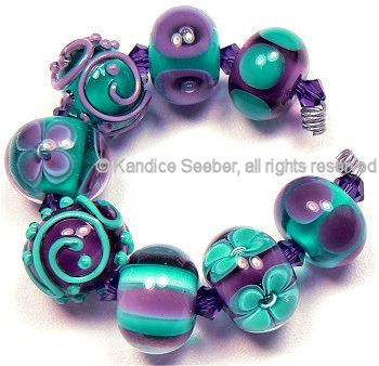 handmade lampwork beads by kandice seeber love these colours
