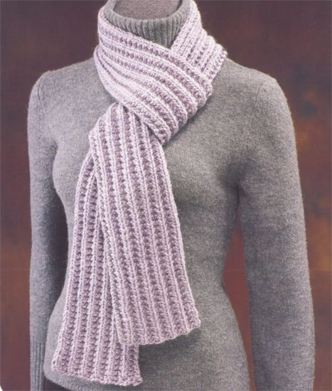 Easy ribbed scarf