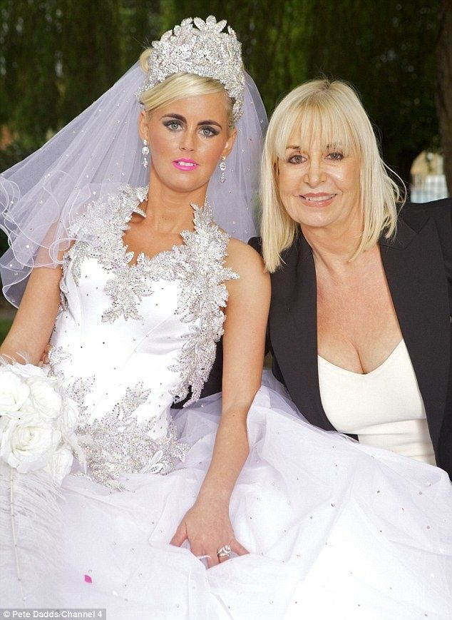 Gypsy wedding Thelma Madine sparkle bling white corset vail