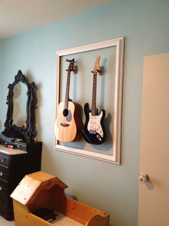 Great idea for guitars (especially for small storage space!)