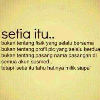 Setia,kata-kata,love qoute,cinta
