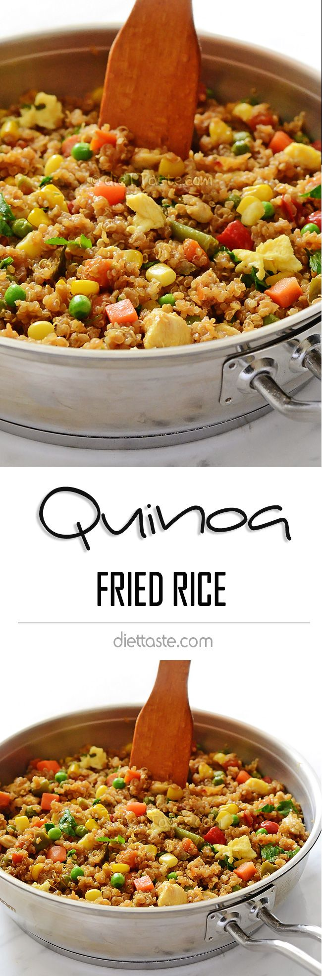 Quinoa Fried Rice - if you like regular fried rice, you will like this low-carb, recipe, too -