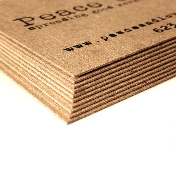 Thick Kraft Blank business cards  Set of 100  Kraft by AnnsPaperie, $15.00