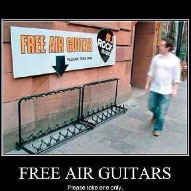 :): Funny Signs, Funny Pictures, Free Air, Street Art, Funny Stuff, Airguitar, Rocks, Air Guitar, Streetart