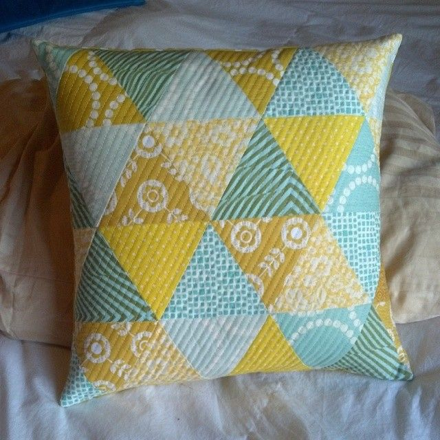 Beautiful quilted pillow | Young Texan Mama