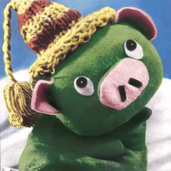 """Mazsola"" - Hungary is a cult puppet The Green Piggy - bedtime stories for television recurring figure (in the 60s 70s)"