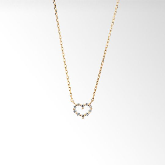STAR JEWELRY |DIAMOND HEART NECKLACE: ネックレス