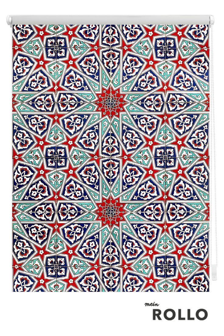 Mein Rollo - das Rollo zum Selbstgestalten. Marokanische Muster und eine riesengroße Auswahl an Texturen & Mustern für Dein Rollo findest du auf www.meinrollo.de.(Sonnenschutz,orientalische Muster,Fensterdekoration, Wohnidee)