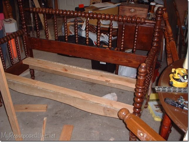 Bench out of a headboard & footboard