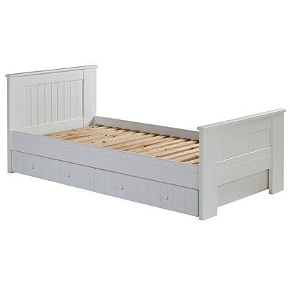 george home finley single bed with storage white