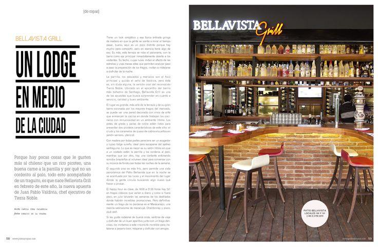 Revista Platos&Copas // De Copas: Un lodge en medio de la ciudad.