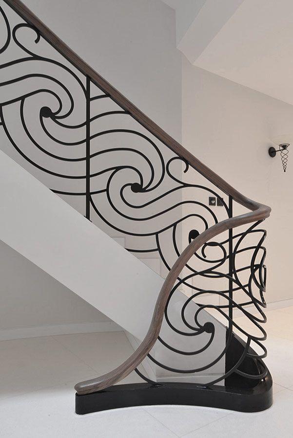 Staircase - bespoke elliptical staircase with laser cut balustrade   Elite Metalcraft Co. Ltd
