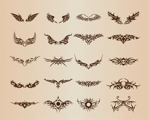 Free vector Tattoo Elements Vector Set #5297