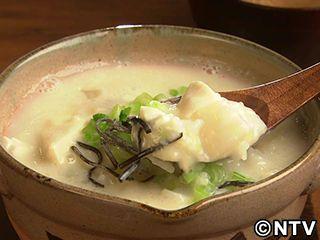 かぶと豆腐の豆乳雑炊