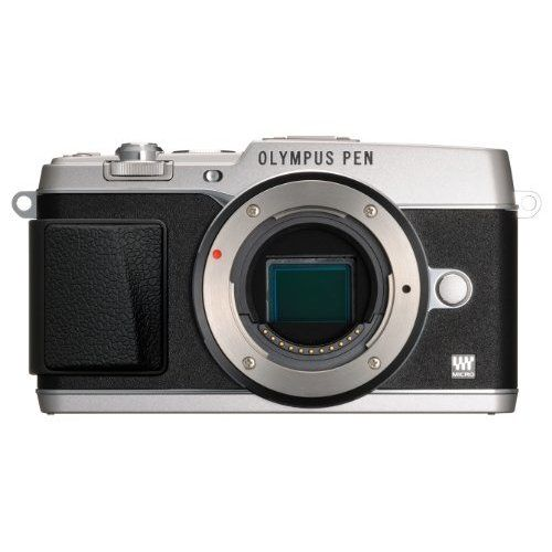Olympus E-P5 16.1 MP Compact System Camera with 3-Inch LCD- Body Only (Silver with Black Trim)
