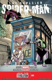 Superior Spider-Man #6 The new super villain duo, Jester & Screwball, are punking heroes across the internet. And now they've set their site on the Superior Spider-Man. (Who is SO not good with that.)