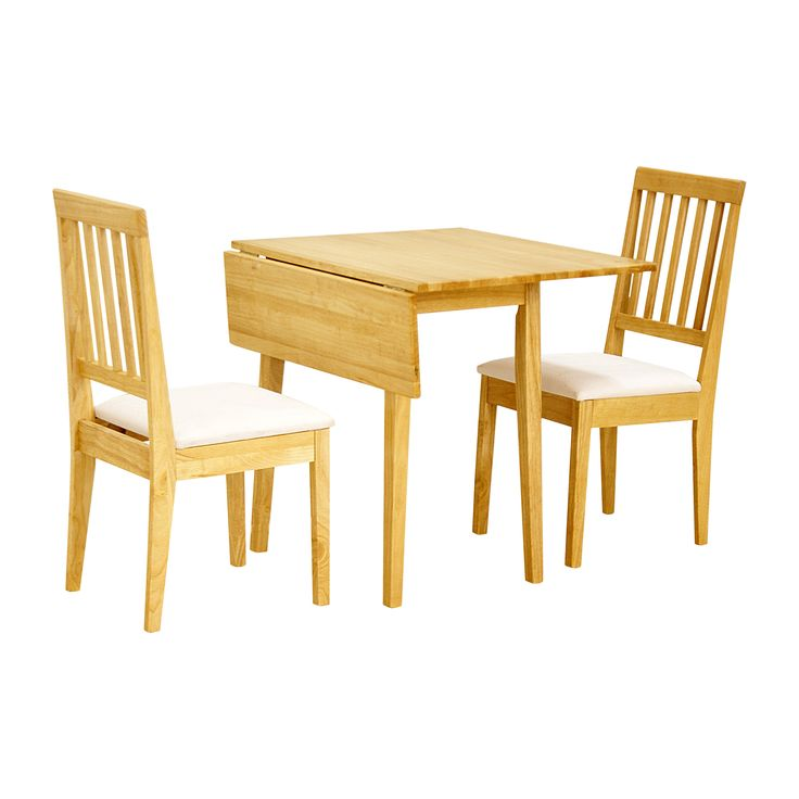 Small Oak Dining Table And 2 Chairs