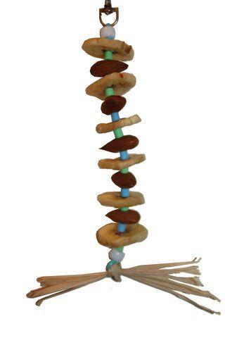 Construire un jouet comestible pour grande perruche et perroquet - Perruches et perroquets