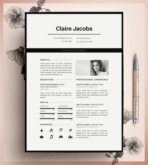 13 best cv images on Pinterest Resume, Curriculum and Cv template - m w resume