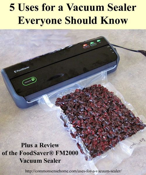 5 Uses for a Vacuum Sealer Everyone Should Know: FoodSaver® FM2000 vacuum sealer review and giveaway. Vacuum sealers protect more than just food.