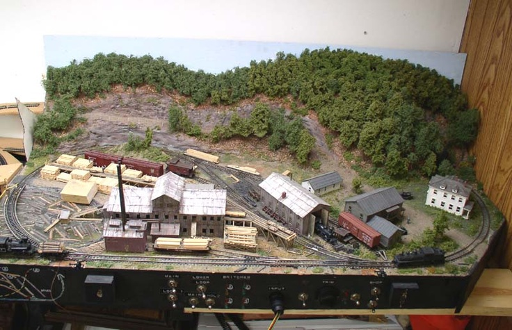 A log and logs on pinterest - Ho scale layouts for small spaces concept ...