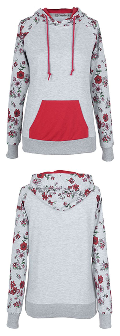 Hot sale! $26.99 Only with free shipping&easy return! You can not miss this floral cute hoodie! Just made for your daily look! Cozy&chic at Cupshe.com