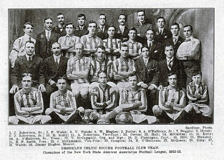 Brooklyn Celtic Soccer Football Club, Champions of the New York State Amateur Association Football League 1912/13