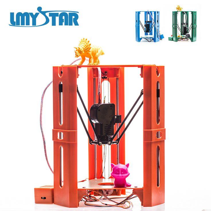 LYMSTAR Newest High Precision MINI Desk 3D Printer User Guide DIY Kit Kossel Delta 3D Metal Printer With 8GB SD Card & Filament //Price: $154.40//     #Gadget