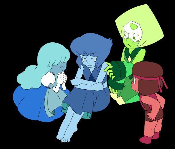 Steven universe. Ruby and saphire. Lapis. Peridot.