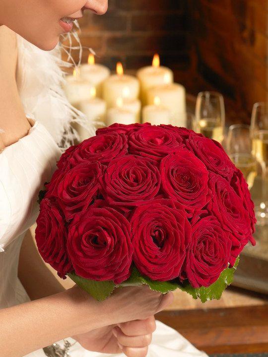 Bouquet di Rose Rosse stabilizzate un di WeddingMarriagebouqu