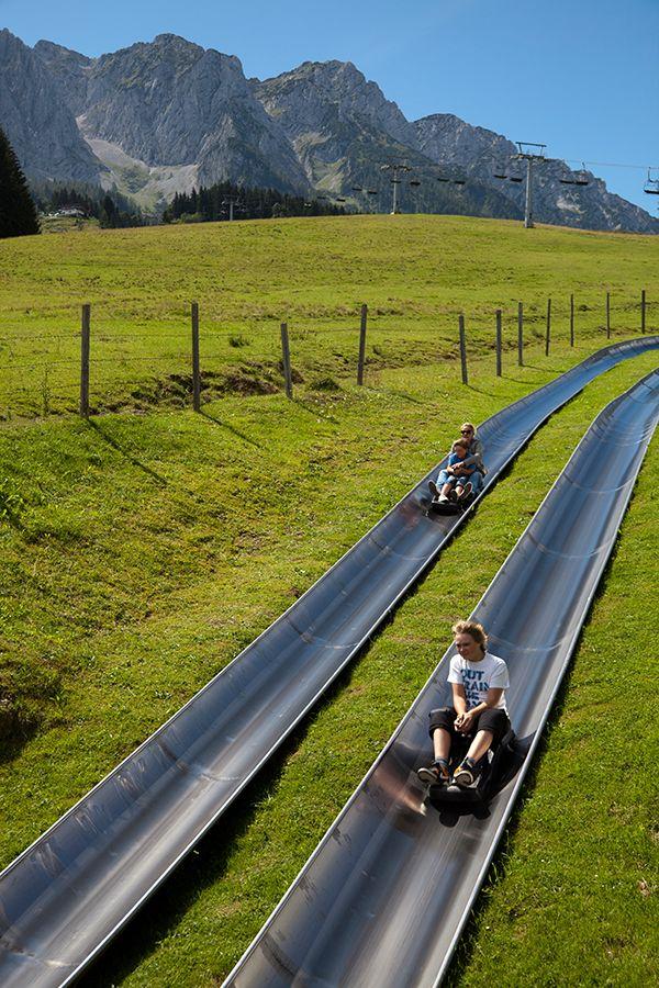 Sommerrodeln im #Kaiserwinkl in Tirol; Austria  ~ Summer sledding - looks like great fun!