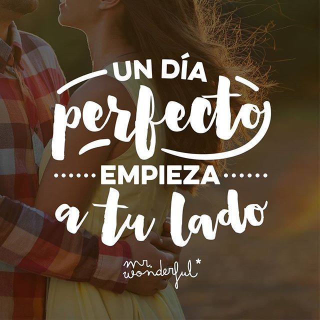 Y si ese día es domingo, todavía más. #felizdomingo  A perfect day begins by your side. And if that day is Sunday, so much the better.