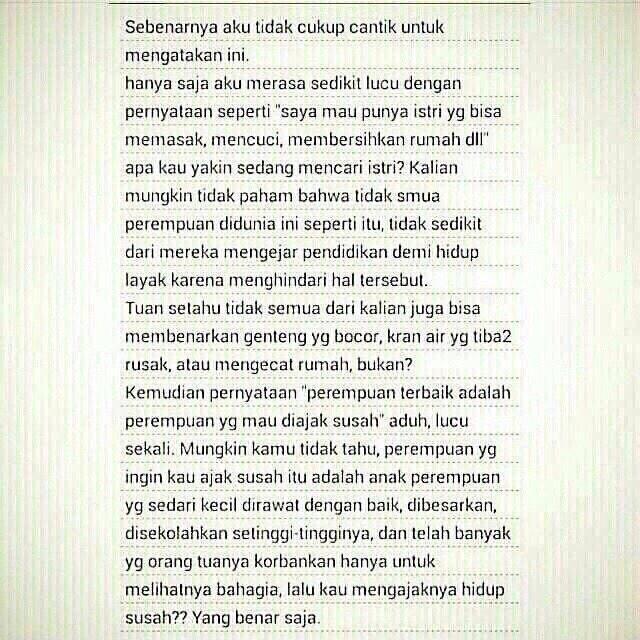 Karena pada akhirnya RUMAH TANGGA itu DIBANGUN BERSAMA SAMA ... BUKAN SENDIRI SENDIRI ... #quote by @ArieLnidji