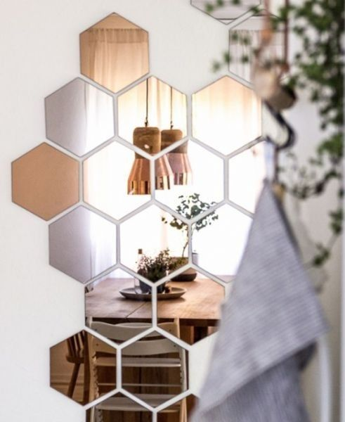 This is less hack and more artful whimsy, but you can really let your creativity fly using the Hönefoss copper hexagon mirrors from Ikea. They make a perfect installation behind a dining room table, in an entryway or maybe even above your bedroom headboard.
