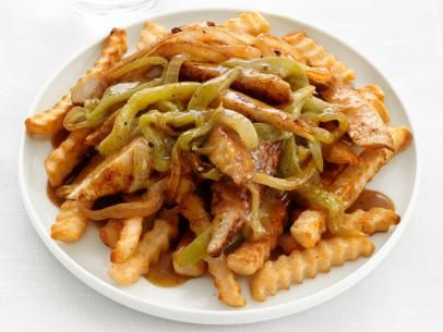 Chile Chicken with Fries #BigGame: Food Network, Foodnetwork Com, Fries Recipes, Chile Chicken, French Fries, Favorite Recipes, Chicken W Fries Yummy, Games Food, Carbonara