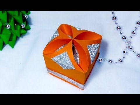 DIY Gift box - NO templates!!!!! ANY SIZE ! SUPER easy. Christmas box - YouTube