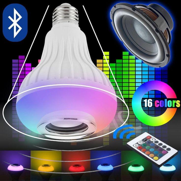 Fabulous Wireless Bluetooth Speaker W RGB Bulb E LED Lamp V V