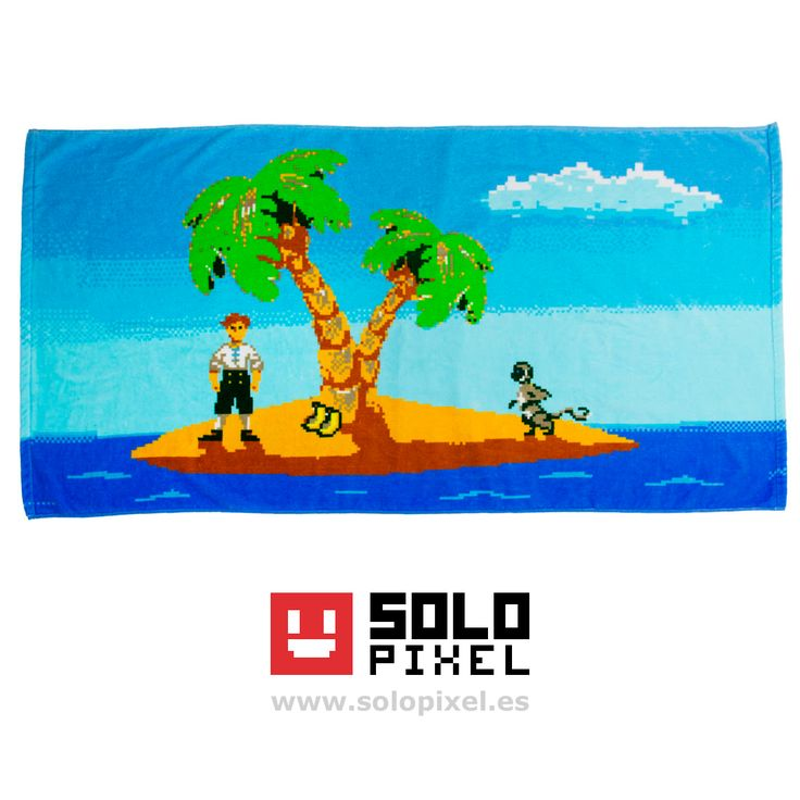 ¡El icónico aspirante a pirata con su inseparable mono y un par de plátanos! Toalla multi-uso, ¿eres más de playa, piscina o cuarto de baño?