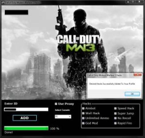 Call Of Duty Modern Warfare 3 Hack Cheat Engine No Survey