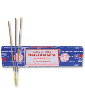Nag Champa Incense....I keep packets of this in my clothes drawers, it makes them smell yummy